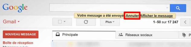 Usagers de Gmail, vous pouvez maintenant annuler l'envoi d'un courriel